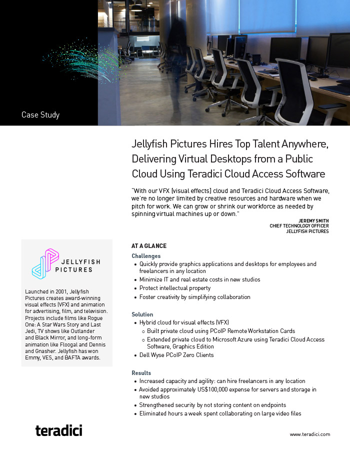 Jellyfish Pictures Customer Story pdf