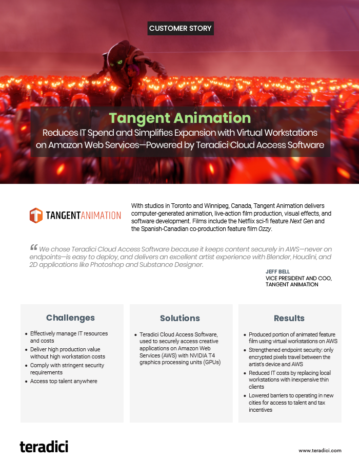 Tangent Animation Customer Story